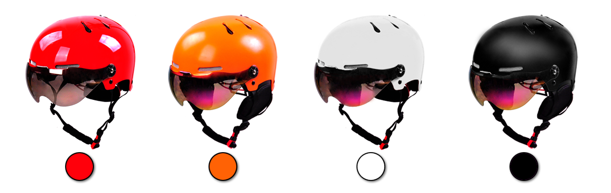 skiing helmet different color