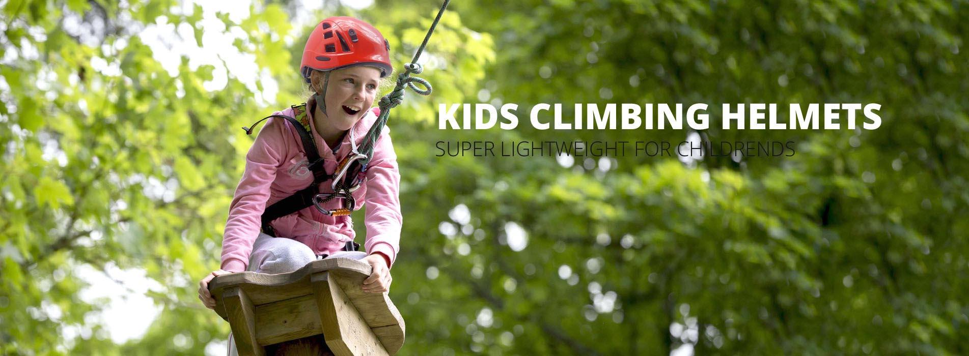 kid climbing helmet banner