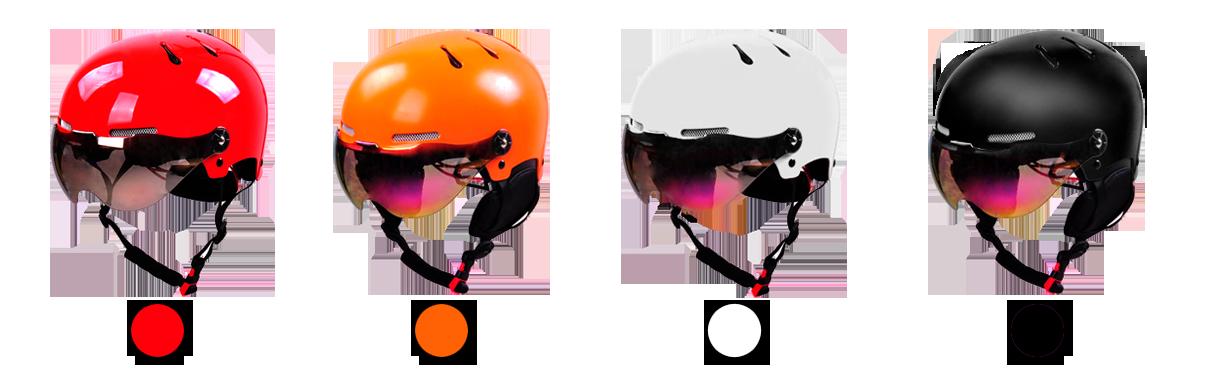 skiing helmet different color