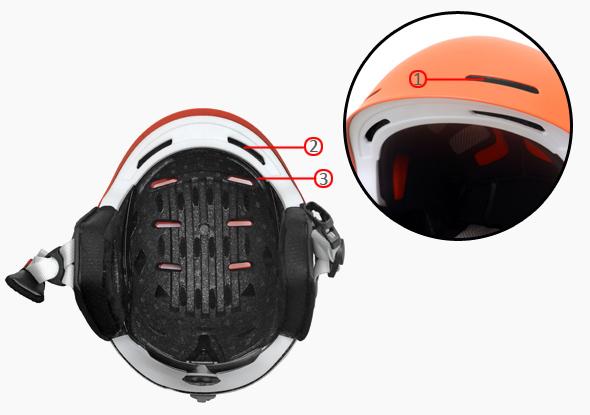 carbon fiber ski helmet s09