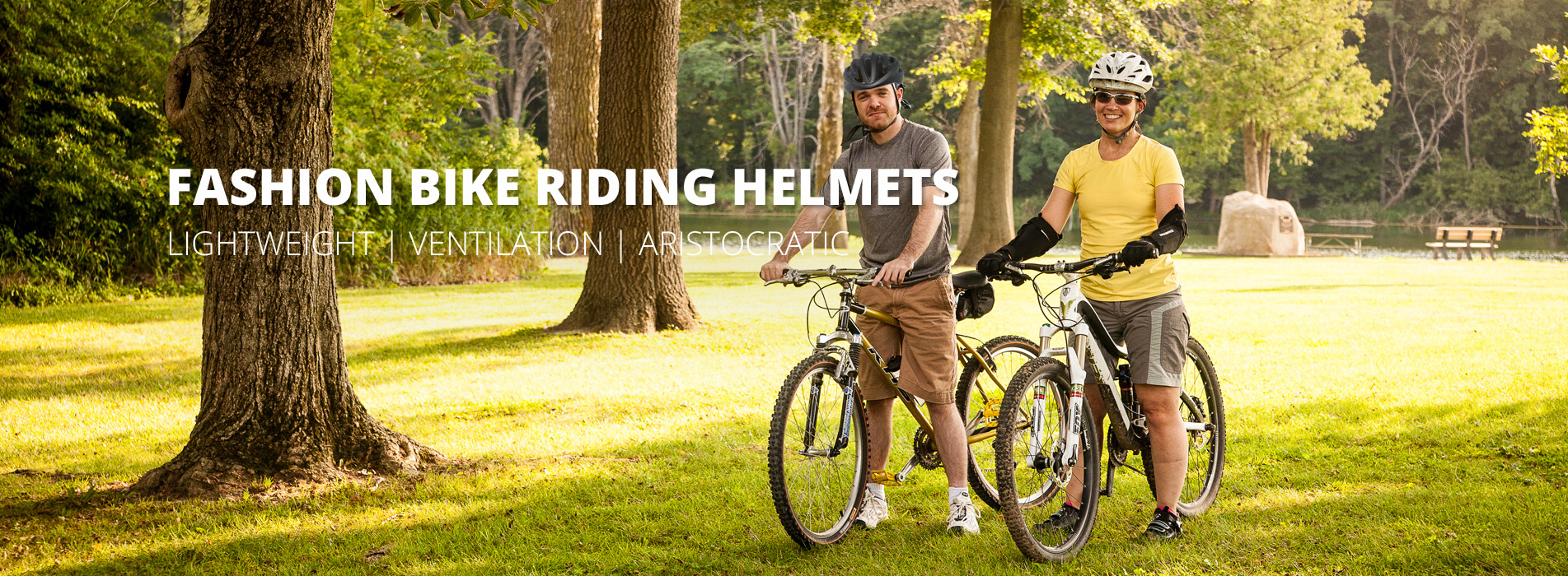 bike riding helmets AU-037 banner