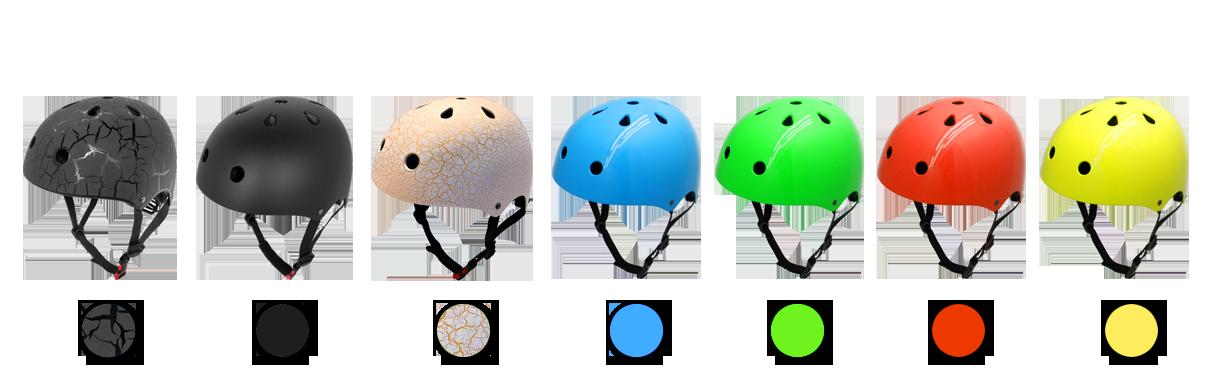 skate cycle helmet-color